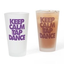 Keep Calm and Tap Dance (purple) Drinking Glass