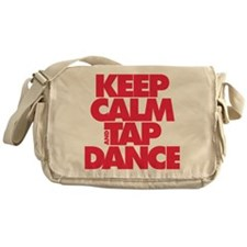 Keep Calm and Tap Dance (red) Messenger Bag