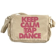 Keep Calm and Tap Dance (pink) Messenger Bag