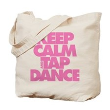 Keep Calm and Tap Dance (pink) Tote Bag