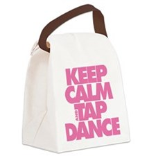 Keep Calm and Tap Dance (pink) Canvas Lunch Bag