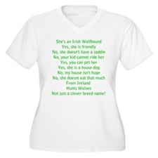 Questions Answered (she) Plus Size T-Shirt