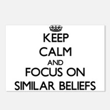 Keep Calm and focus on Si Postcards (Package of 8)
