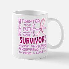 Breast Cancer Fighter/survivor Mugs