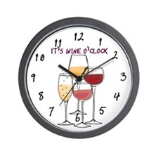 It's Wine O'clock Wall Clock