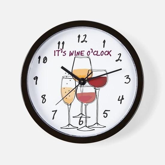 It's Wine O'clock Wall Clock