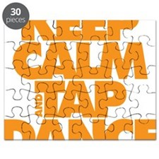 Keep Calm and Tap Dance (orange) Puzzle