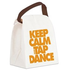 Keep Calm and Tap Dance (orange) Canvas Lunch Bag