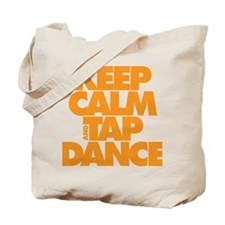 Keep Calm and Tap Dance (orange) Tote Bag