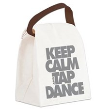 Keep Calm and Tap Dance (grey) Canvas Lunch Bag