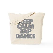 Keep Calm and Tap Dance (grey) Tote Bag