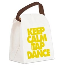 Keep Calm and Tap Dance (yellow) Canvas Lunch Bag