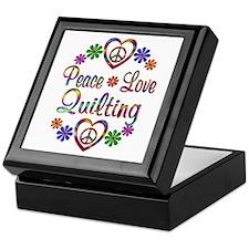 Peace Love Quilting Keepsake Box
