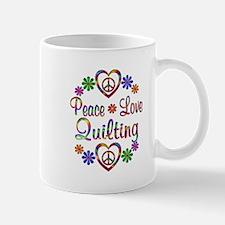 Peace Love Quilting Mug