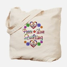 Peace Love Quilting Tote Bag