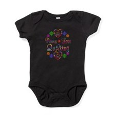 Peace Love Quilting Baby Bodysuit
