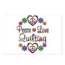 Peace Love Quilting Postcards (Package of 8)