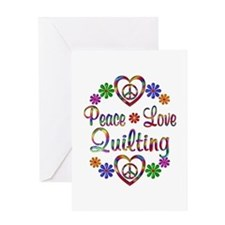 Peace Love Quilting Greeting Card