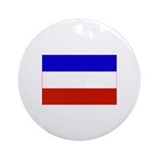 serbia and montenegro flag Ornament (Round)