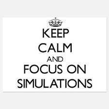 Keep Calm and focus on Simulations Invitations