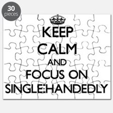 Keep Calm and focus on Single-Handedly Puzzle