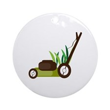 Lawn Mower Ornament (Round)