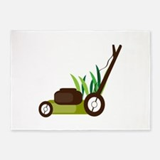 Lawn Mower 5'x7'Area Rug