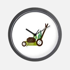 Lawn Mower Wall Clock