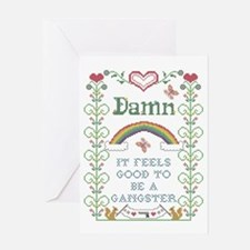 Damn It Feels Good Blank Card Greeting Cards