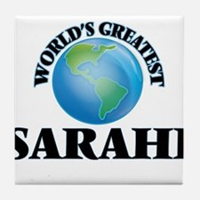 World's Greatest Sarahi Tile Coaster
