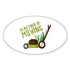 Rather be Mowing Decal