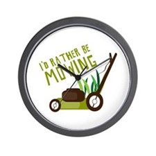 Rather be Mowing Wall Clock