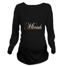 Gold Micah Long Sleeve Maternity T-Shirt
