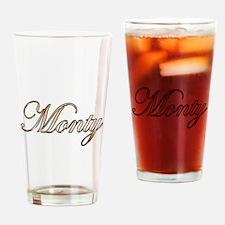 Gold Monty Drinking Glass
