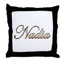 Gold Nadia Throw Pillow