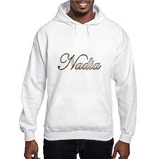 Gold Nadia Hoodie Sweatshirt