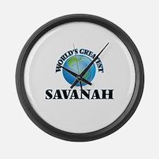 World's Greatest Savanah Large Wall Clock