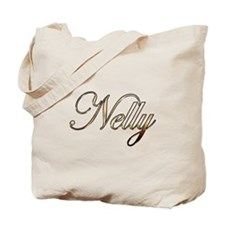 Gold Nelly Tote Bag