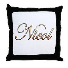 Gold Nicol Throw Pillow
