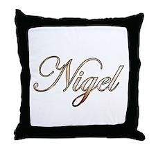 Gold Nigel Throw Pillow