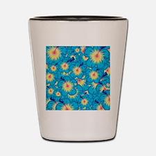 Light blue hibiscus Shot Glass