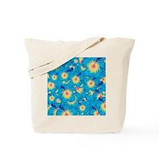 Light blue hibiscus Tote Bag
