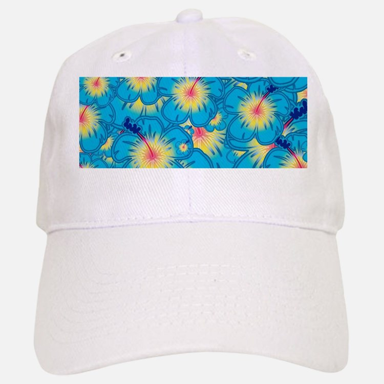 Light blue hibiscus Baseball Baseball Cap
