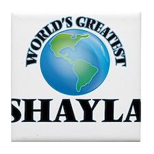 World's Greatest Shayla Tile Coaster