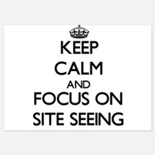 Keep Calm and focus on Site Seeing Invitations