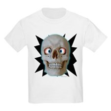 Halloween Cross-Eyed Skull Kids T-Shirt