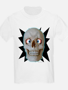 Halloween Cross-Eyed Skull Kids T-Shirt