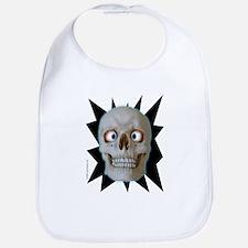 Halloween Cross-Eyed Skull Bib