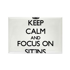 Keep Calm and focus on Sit-Ins Magnets