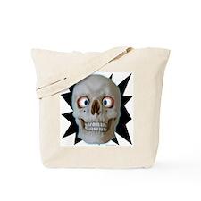 Halloween Cross-Eyed Skull  Tote Bag